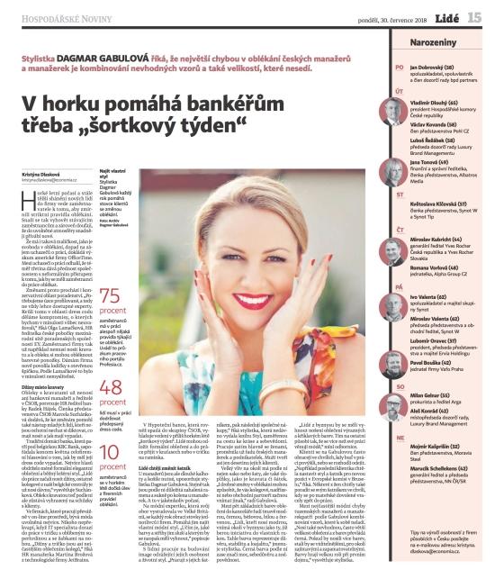 Hospodarske Noviny_Dress Code